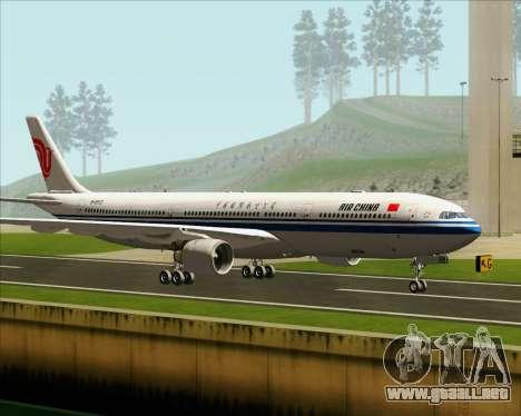 Airbus A330-300 Air China para GTA San Andreas vista posterior izquierda