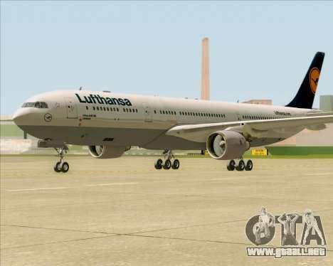 Airbus A330-300 Lufthansa para GTA San Andreas left