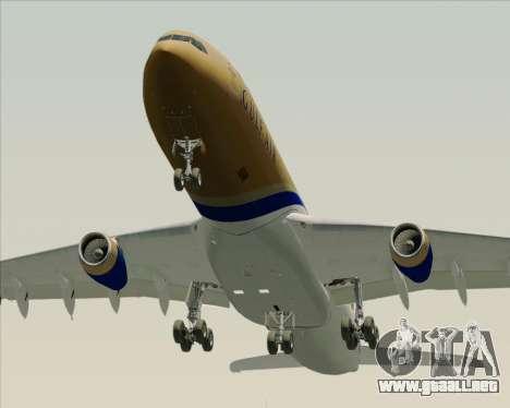 Airbus A340-313 Gulf Air para vista inferior GTA San Andreas