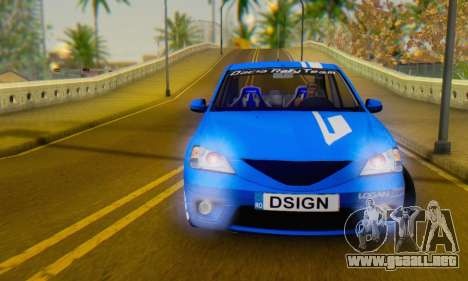 Dacia Logan Tuning Rally (B 48 CUP) para GTA San Andreas vista hacia atrás