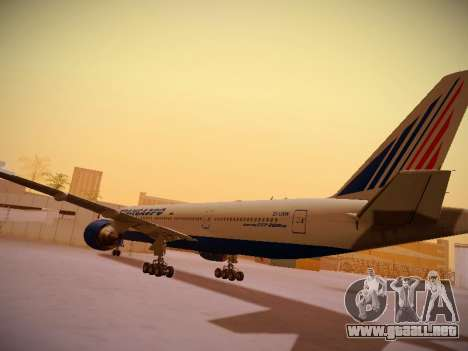 Boeing 777-212ER Transaero Airlines para GTA San Andreas vista hacia atrás
