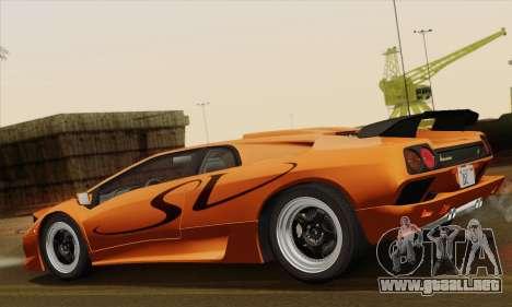Lamborghini Diablo SV 1995 (ImVehFT) para GTA San Andreas left