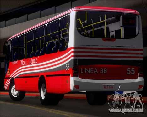 Neobus Spectrum Linea 38 Mcal. Lopez para las ruedas de GTA San Andreas