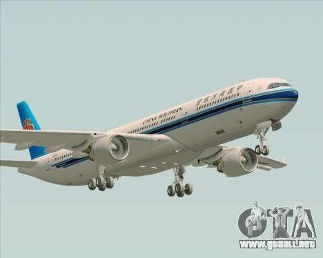 Airbus A330-300 China Southern Airlines para vista inferior GTA San Andreas