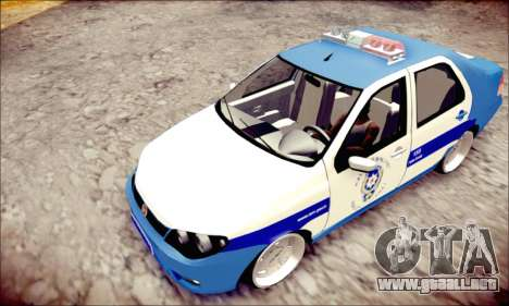 Fiat Albea Police Turkish para GTA San Andreas