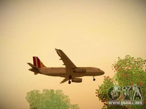 Airbus A319-132 Germanwings para vista inferior GTA San Andreas