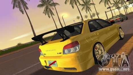 Subaru Impreza WRX STI 2006 Type 4 para GTA Vice City vista lateral izquierdo