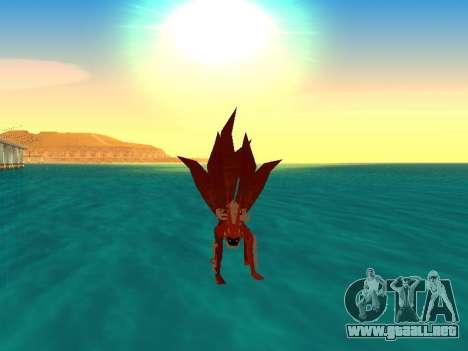 El Kyubi Transformación para GTA San Andreas sucesivamente de pantalla