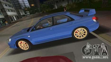 Subaru Impreza WRX STI 2006 Type 1 para GTA Vice City visión correcta