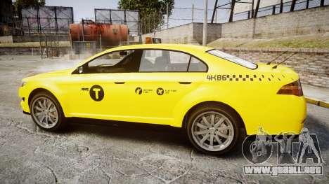 GTA V Vapid Taurus Taxi NYC para GTA 4 left