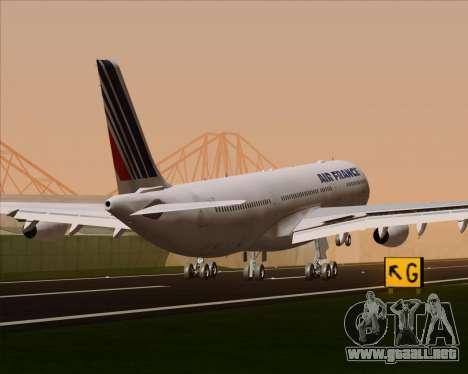 Airbus A340-313 Air France (Old Livery) para las ruedas de GTA San Andreas