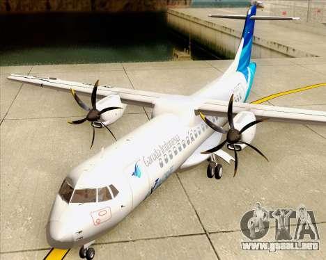 ATR 72-500 Garuda Indonesia Explore para visión interna GTA San Andreas