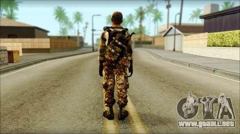 Taliban Resurrection Skin from COD 5 para GTA San Andreas segunda pantalla
