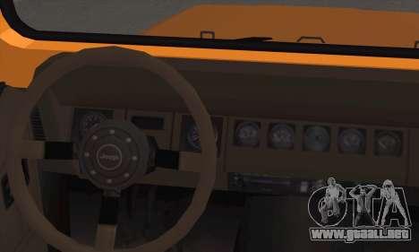 Jeep Wrangler para GTA San Andreas vista posterior izquierda