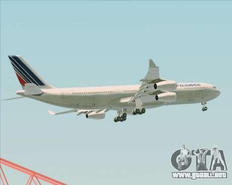 Airbus A340-313 Air France (Old Livery) para GTA San Andreas interior