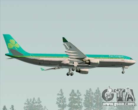 Airbus A330-300 Aer Lingus para visión interna GTA San Andreas