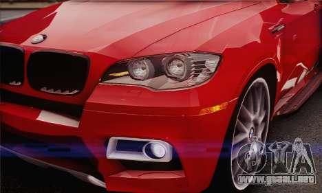 BMW X6M 2013 v3.0 para visión interna GTA San Andreas