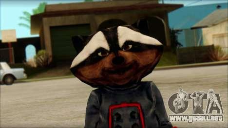 Guardians of the Galaxy Rocket Raccoon v1 para GTA San Andreas tercera pantalla