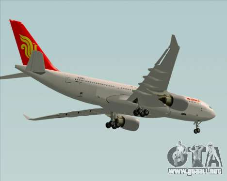 Airbus A330-200 Air China para la vista superior GTA San Andreas