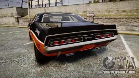 Dodge Challenger 1971 v2.2 PJ9 para GTA 4 Vista posterior izquierda