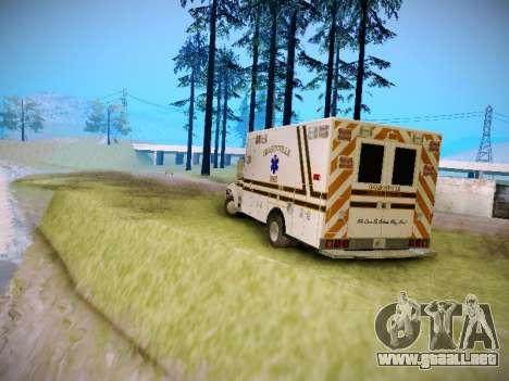 Pierce Commercial Grasonville Ambulance para la visión correcta GTA San Andreas