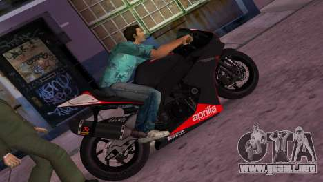 Aprilia RSV4 2009 Original para GTA Vice City
