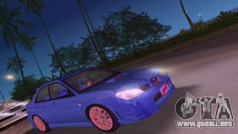 Subaru Impreza WRX STI 2006 Type 4 para GTA Vice City left