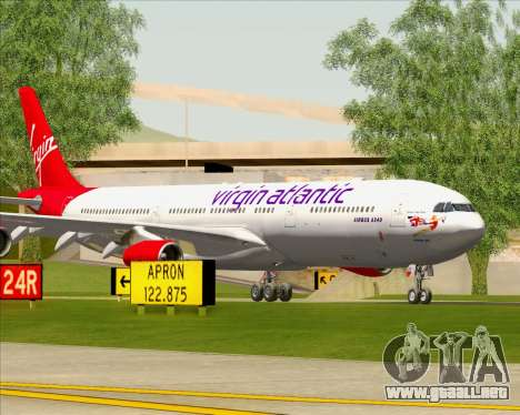 Airbus A340-313 Virgin Atlantic Airways para el motor de GTA San Andreas