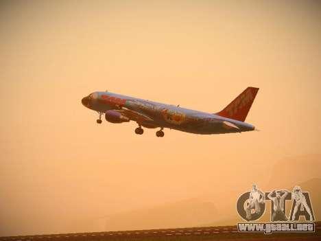Airbus A320-214 TAM Airlines RIO para GTA San Andreas vista hacia atrás