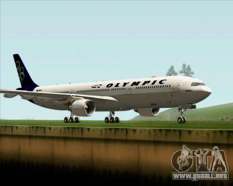 Airbus A330-300 Olympic Airlines para GTA San Andreas left