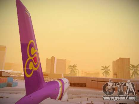 Airbus A380-800 Thai Airways International para vista inferior GTA San Andreas