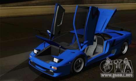 Lamborghini Diablo SV 1995 (ImVehFT) para vista inferior GTA San Andreas