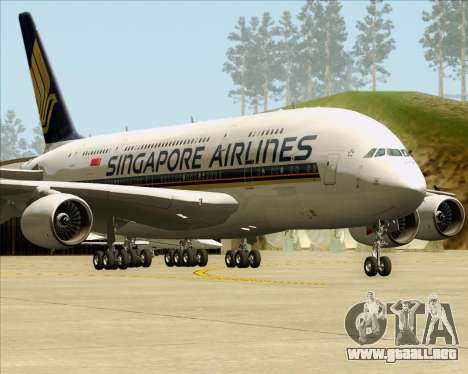 Airbus A380-841 Singapore Airlines para GTA San Andreas left