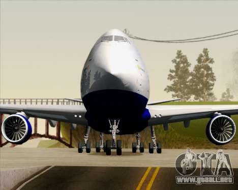 Boeing 747-8 Cargo British Airways World Cargo para vista inferior GTA San Andreas