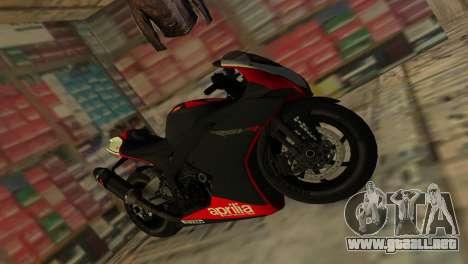 Aprilia RSV4 2009 Original para GTA Vice City visión correcta