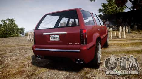 GTA V Albany Cavalcade 2 para GTA 4 Vista posterior izquierda