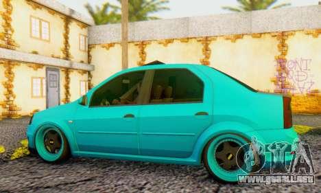 Dacia Logan Pearl Blue para GTA San Andreas vista posterior izquierda