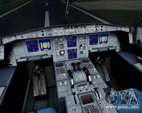 Airbus A340-313 Air France (Old Livery) para la vista superior GTA San Andreas
