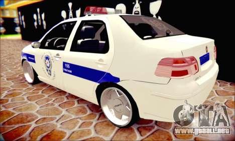 Fiat Albea Police Turkish para visión interna GTA San Andreas