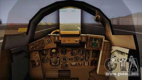 MIG 29 Russian Air Force From Ace Combat para GTA San Andreas vista hacia atrás