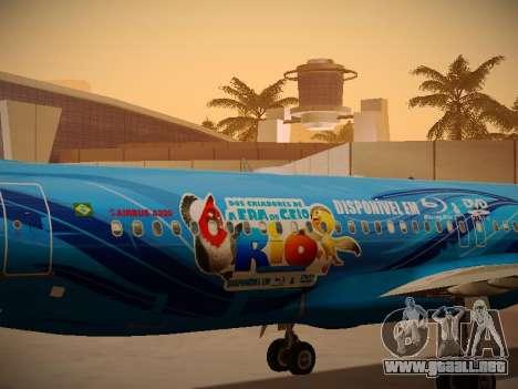 Airbus A320-214 TAM Airlines RIO para visión interna GTA San Andreas