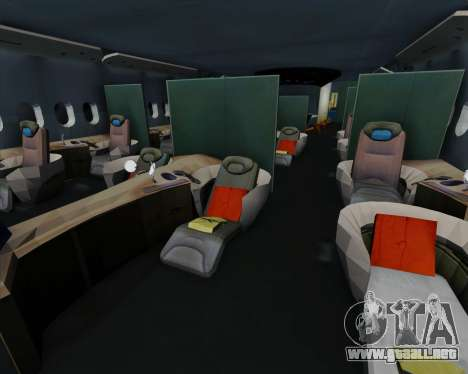 Airbus A380-841 Emirates para vista inferior GTA San Andreas
