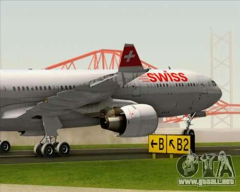 Airbus A330-300 Swiss International Air Lines para la vista superior GTA San Andreas