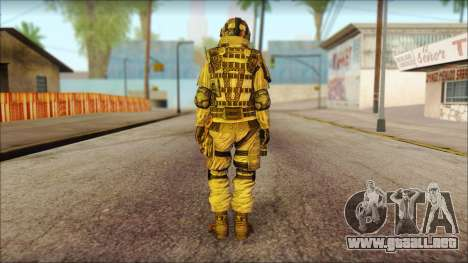 Los soldados de la UE (AVA) v2 para GTA San Andreas segunda pantalla