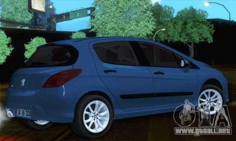 Peugeot 308 2010 para GTA San Andreas left