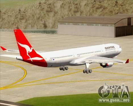 Airbus A330-300 Qantas para visión interna GTA San Andreas