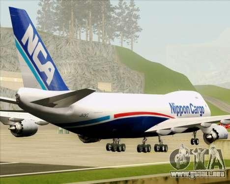 Boeing 747-8 Cargo Nippon Cargo Airlines para vista inferior GTA San Andreas