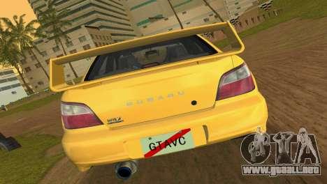 Subaru Impreza WRX 2002 Type 1 para GTA Vice City visión correcta