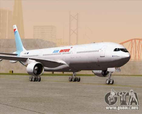 Airbus A330-300 Air Inter para la vista superior GTA San Andreas