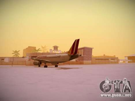 Airbus A319-132 Germanwings para GTA San Andreas vista hacia atrás